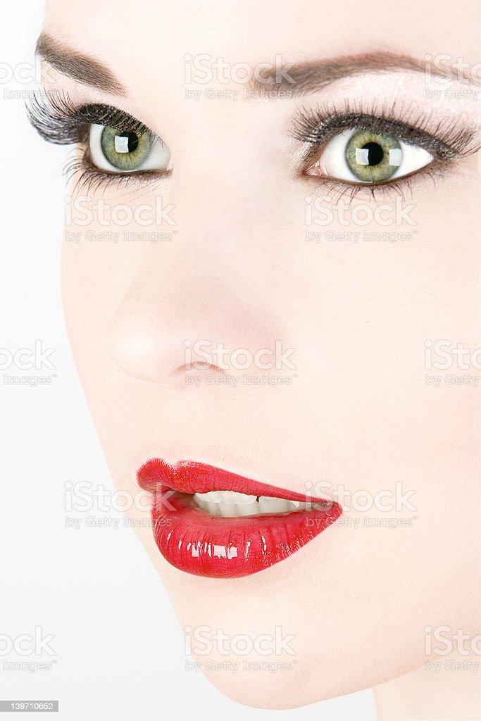 Bright face royalty-free stock photo