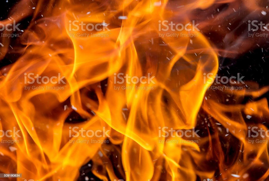 bright flames stock photo