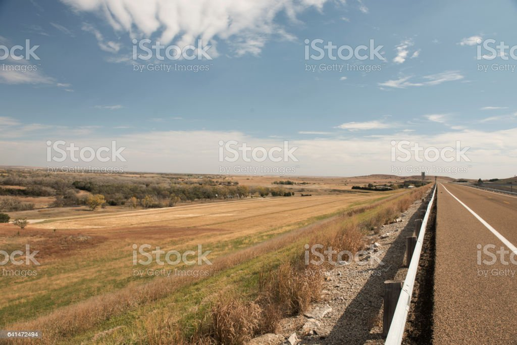 Bright Flint Hills Day stock photo