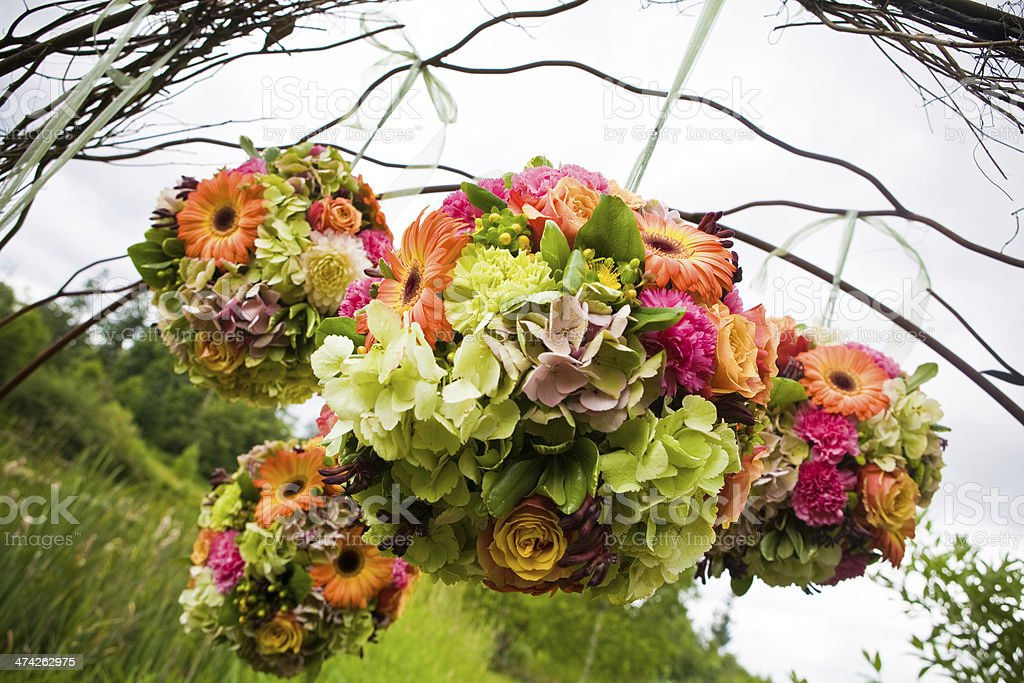 Bright Floral Pomanders stock photo