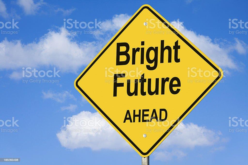 Bright Future Ahead Road Sign royalty-free stock photo