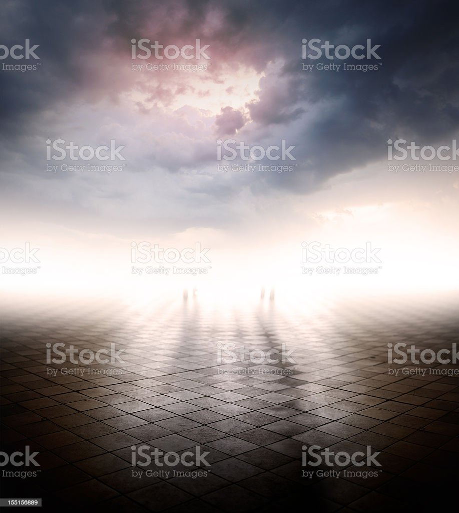 Bright future or doomed? stock photo