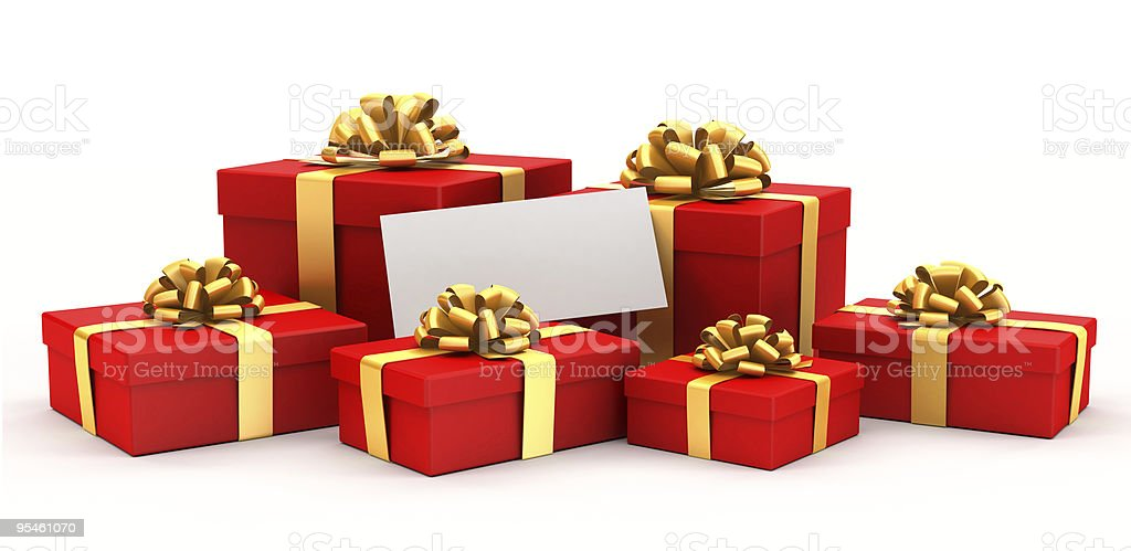 Bright gifts. royalty-free stock photo