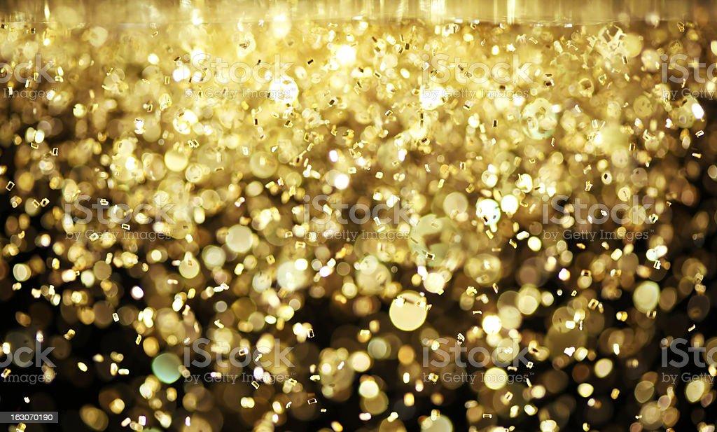 Bright gold glitter stock photo
