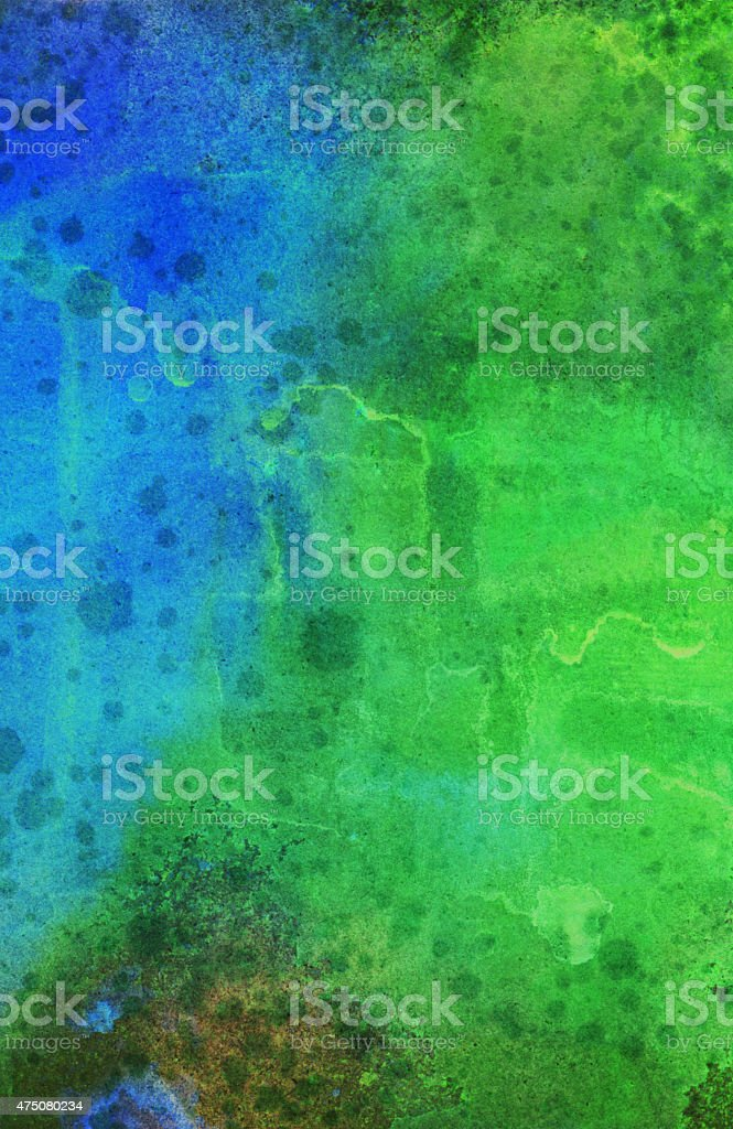Bright green and blue paint with texture stock photo