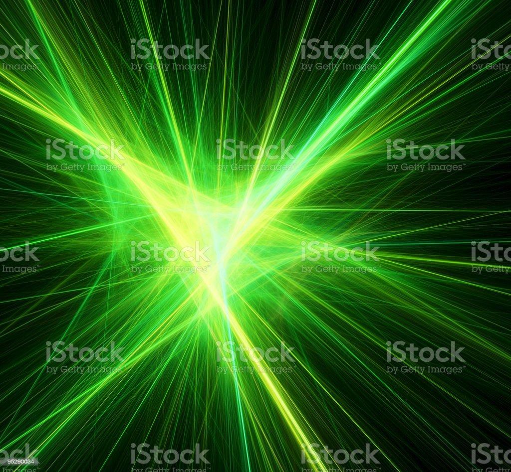 Bright green beams royalty-free stock photo
