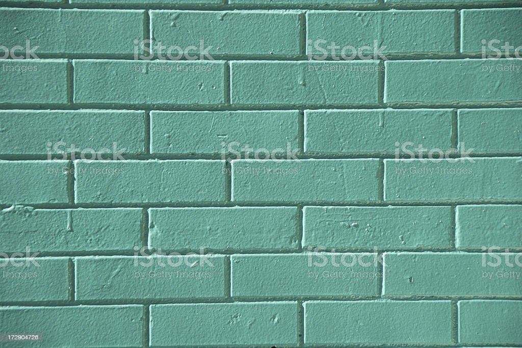 Bright Green Brick Wall royalty-free stock photo