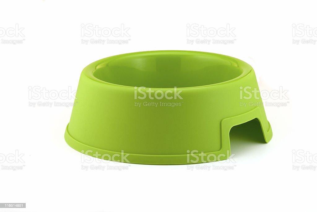 Bright Green Dog Bowl... stock photo