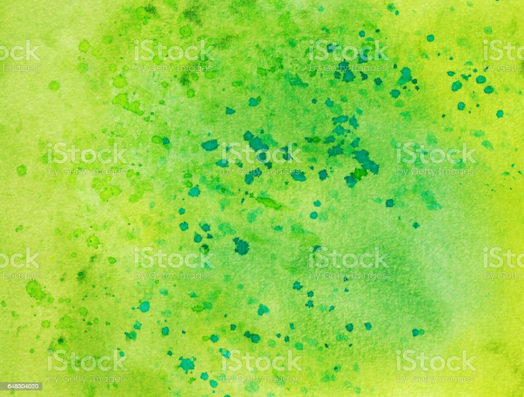 Bright green hand painted watercolor background vector art illustration