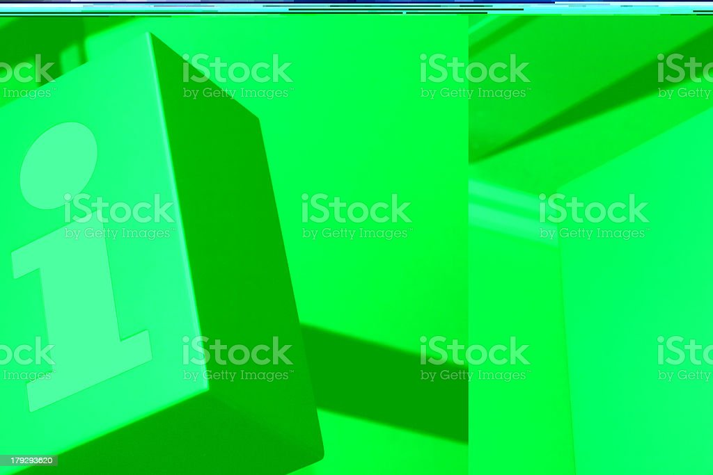 Bright green information tiles stock photo