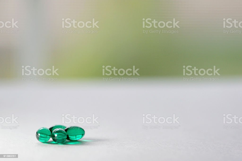 Bright Green Pills royalty-free stock photo