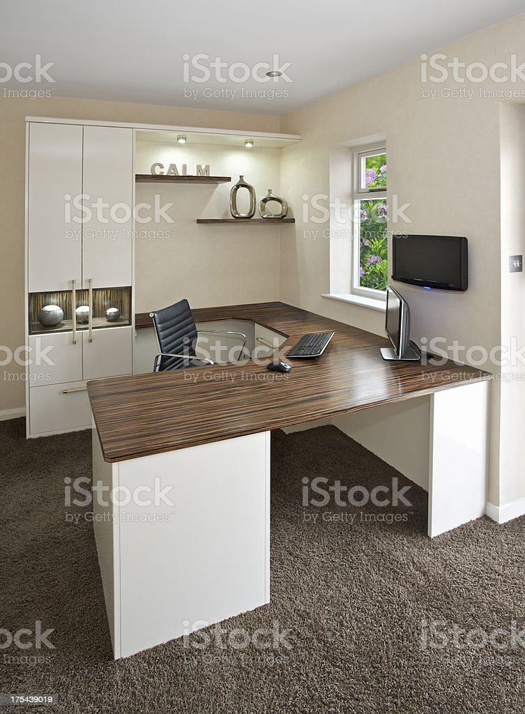 bright home office royalty-free stock photo