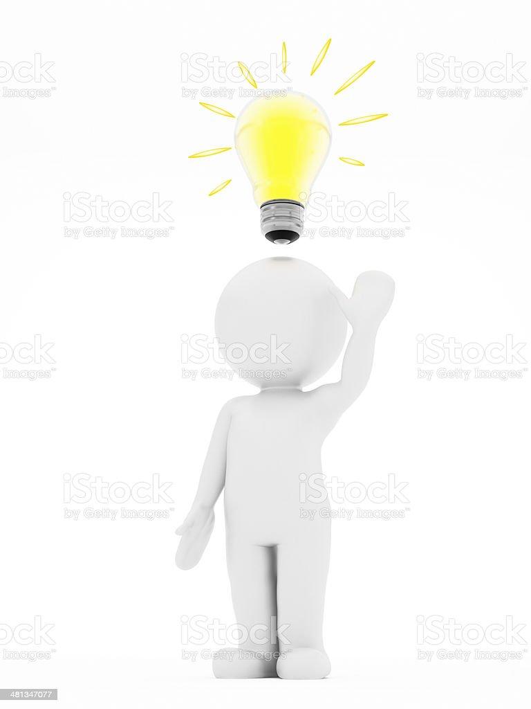 Bright idea royalty-free stock photo