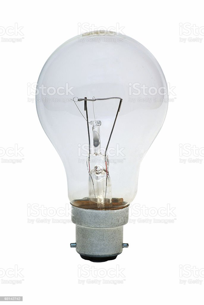 Bright Idea (With Clipping Path) stock photo