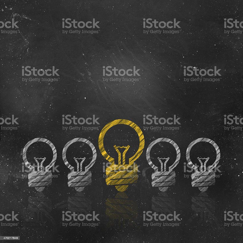 Bright Ideas royalty-free stock photo