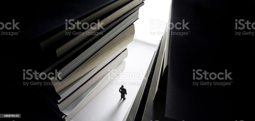 bright intelectual path of success and wisdom stock photo