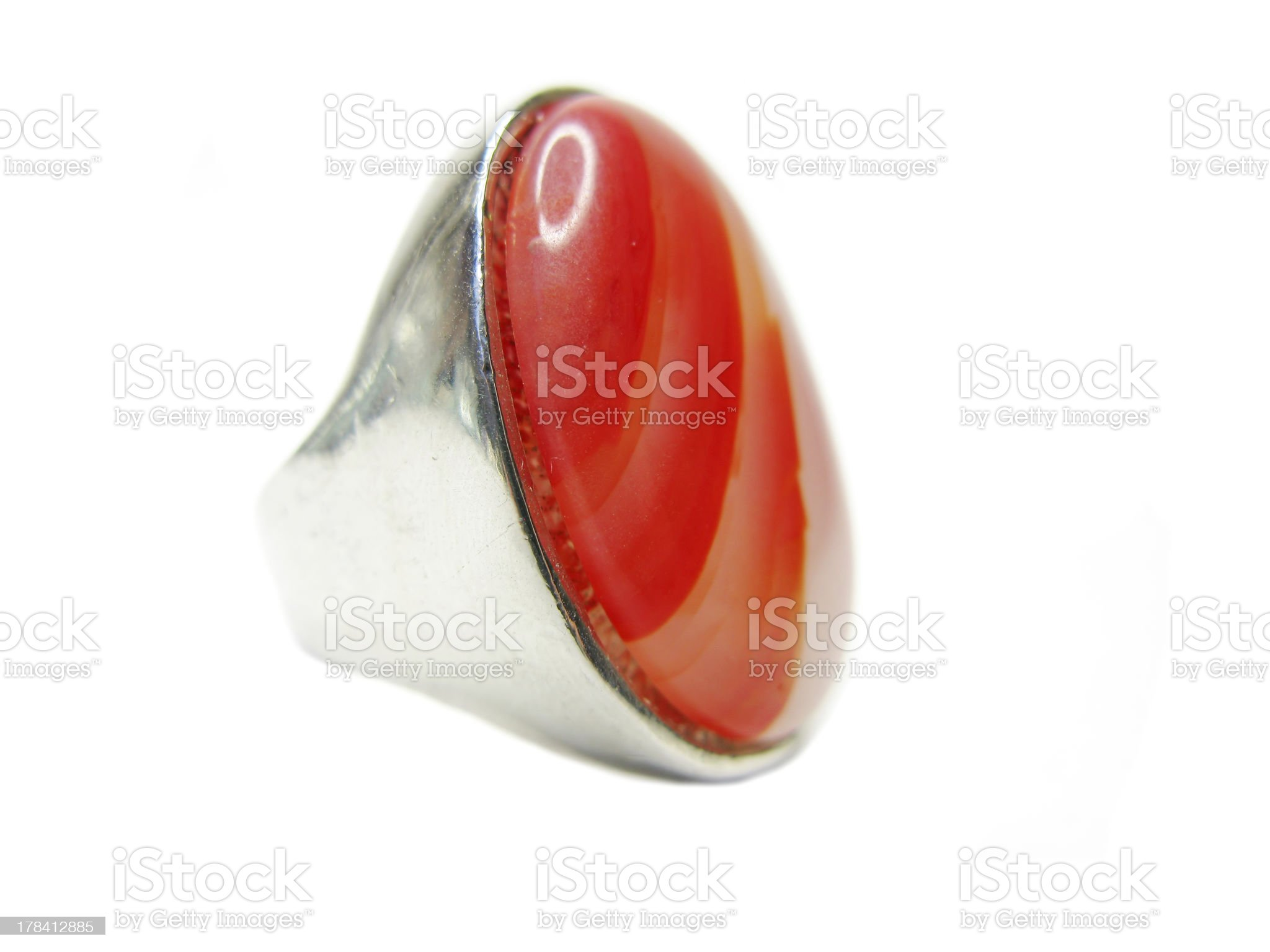 bright jewelry ring with semiprecious crystal royalty-free stock photo
