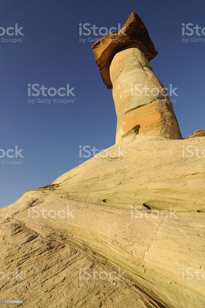 Bright landscape with hoodoos at Stud Horse Point, Arizona, USA stock photo