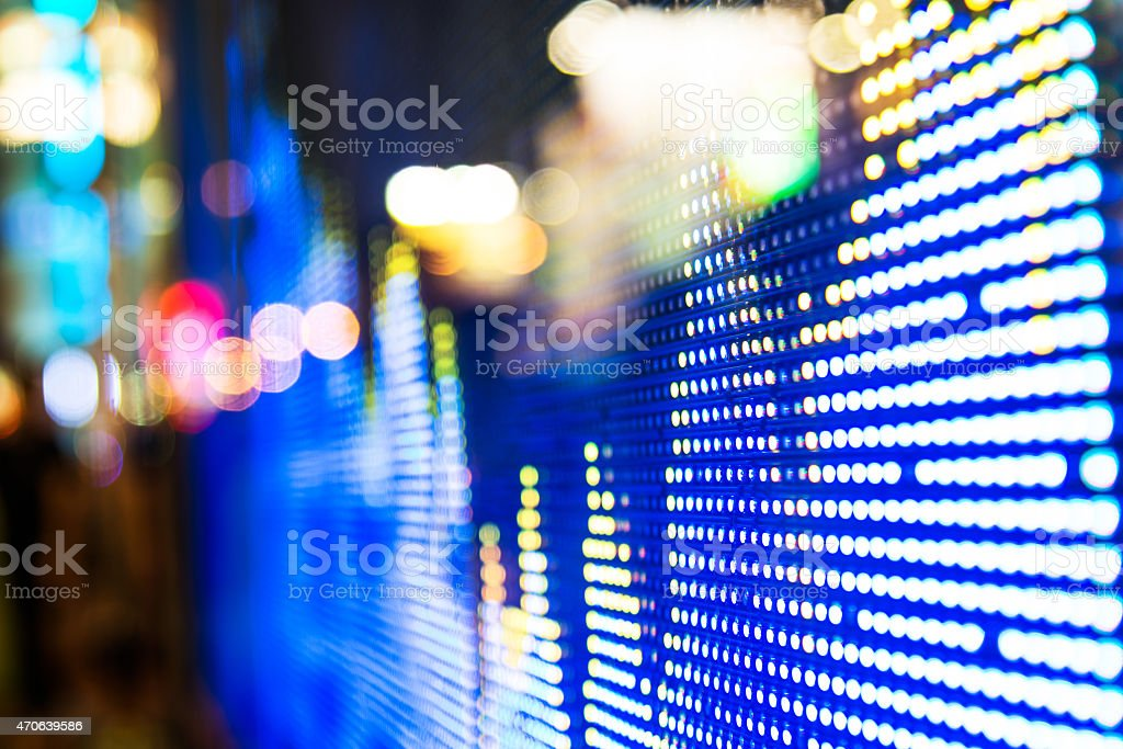 Bright light of the stock market price display stock photo