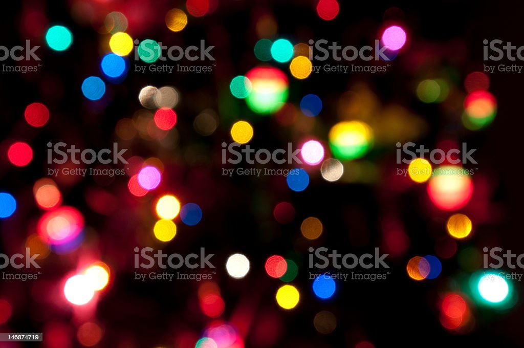 Bright lights abstract on black background royalty-free stock photo