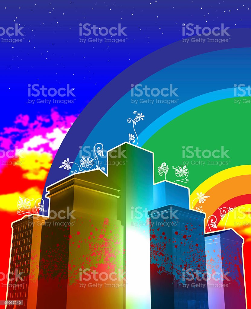 Bright lights, big city royalty-free stock photo