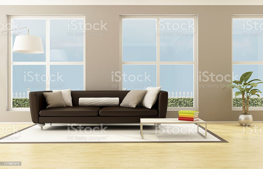 bright living room royalty-free stock photo