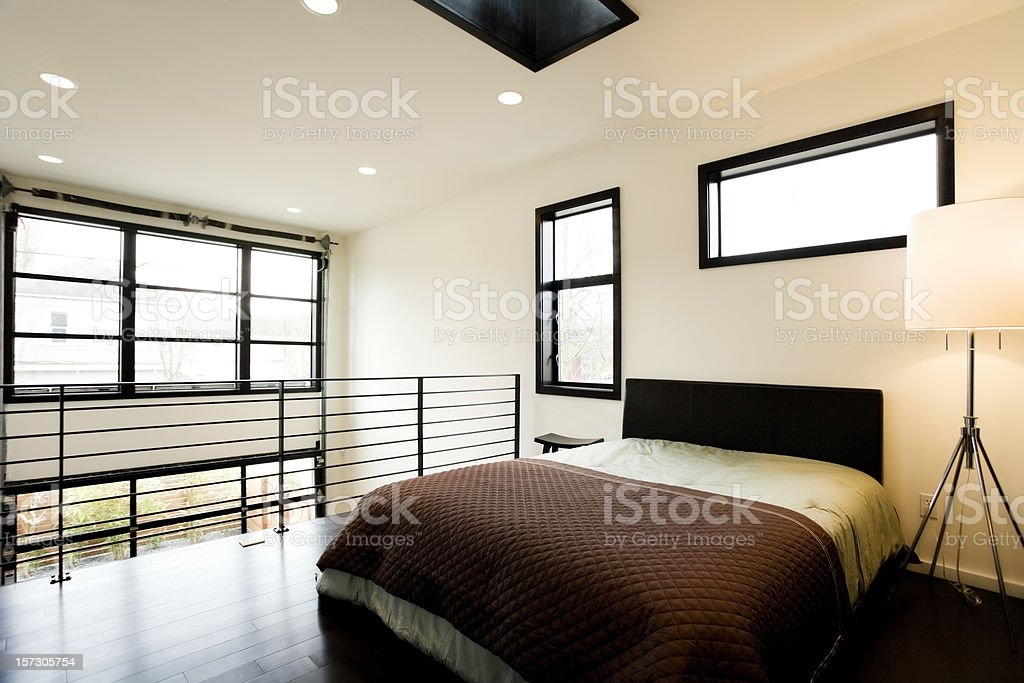 Bright Loft Bedroom royalty-free stock photo