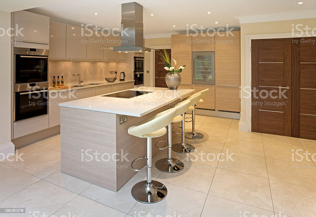 bright luxurious kitchen stock photo