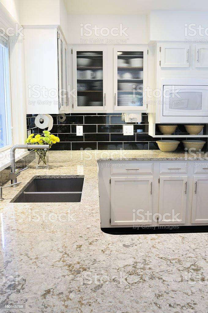 Bright, Modern Kitchen stock photo