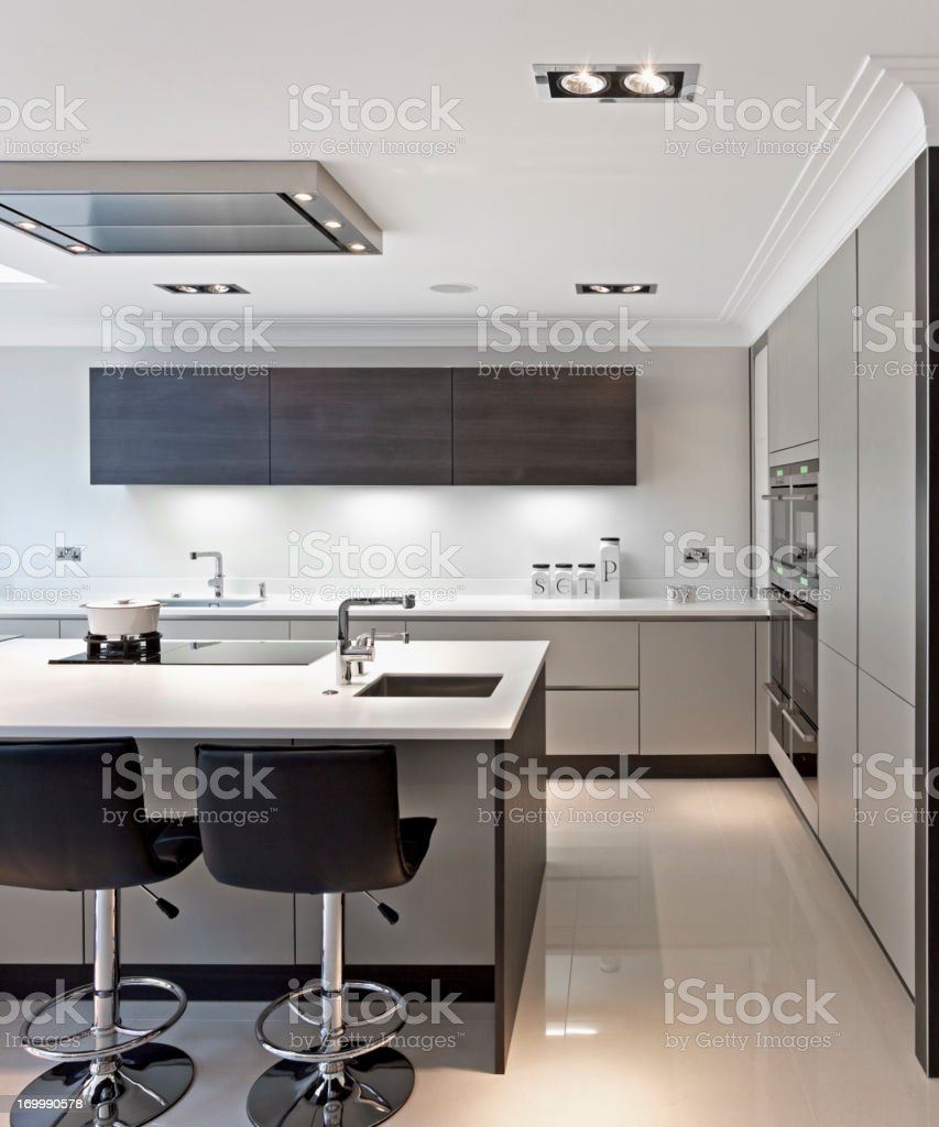 bright modern kitchen royalty-free stock photo