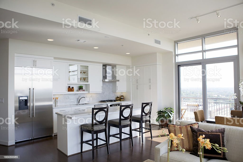 Bright Modern Living stock photo