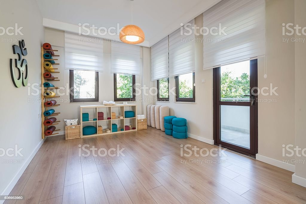 Bright modern Yoga and hobby Stuido stock photo