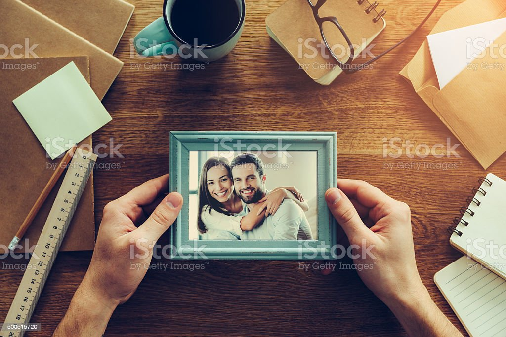 Bright moments together. stock photo