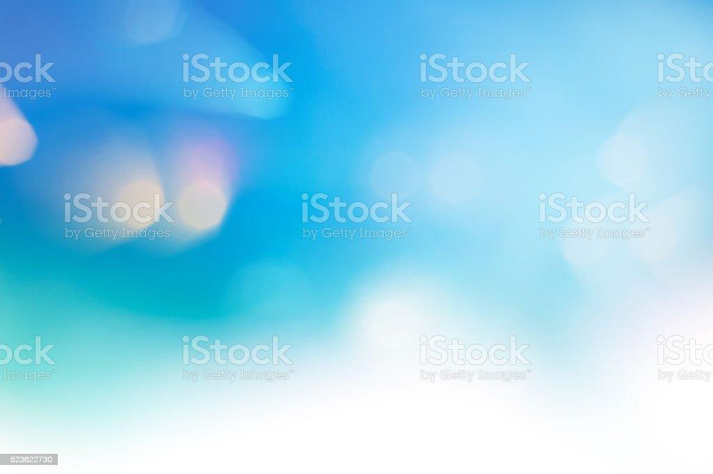 Bright multicolor high key bokeh dot background stock photo