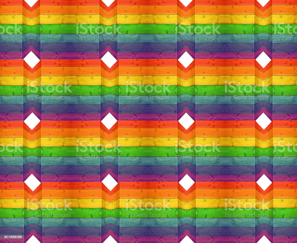 bright multicolored texture from wooden boards stock photo