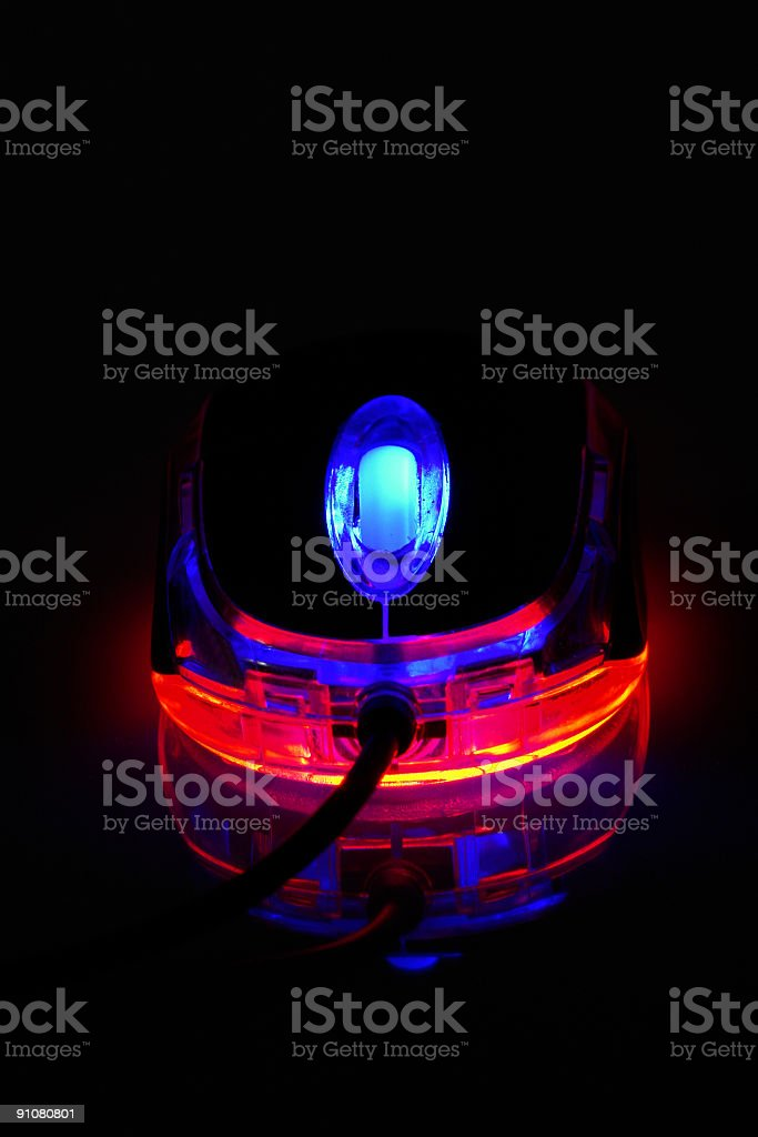 Bright Optical Computer Mouse royalty-free stock photo