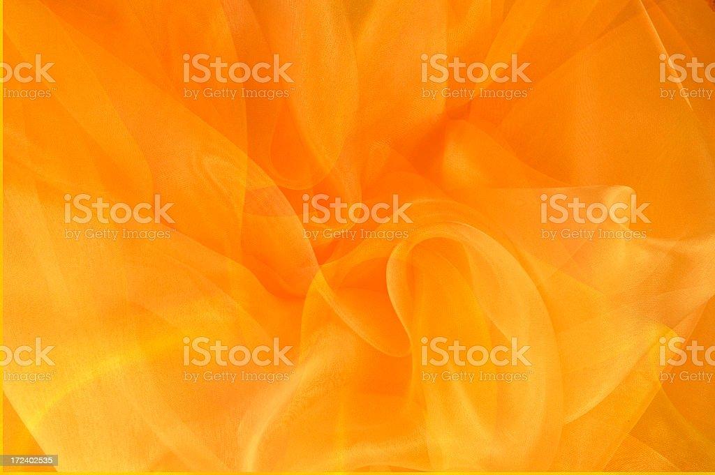 Bright Orange and Gold Swirls royalty-free stock photo