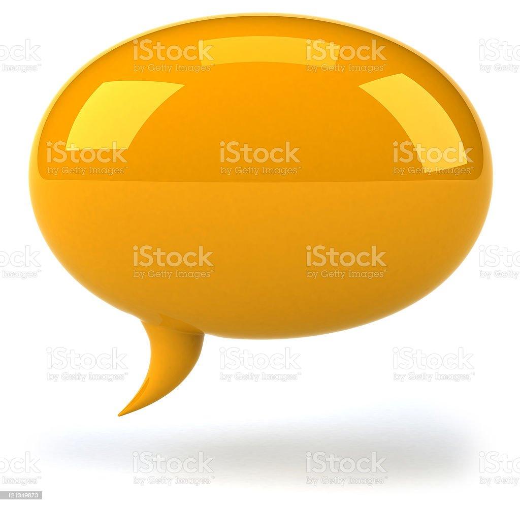 Bright orange large speech bubble royalty-free stock photo
