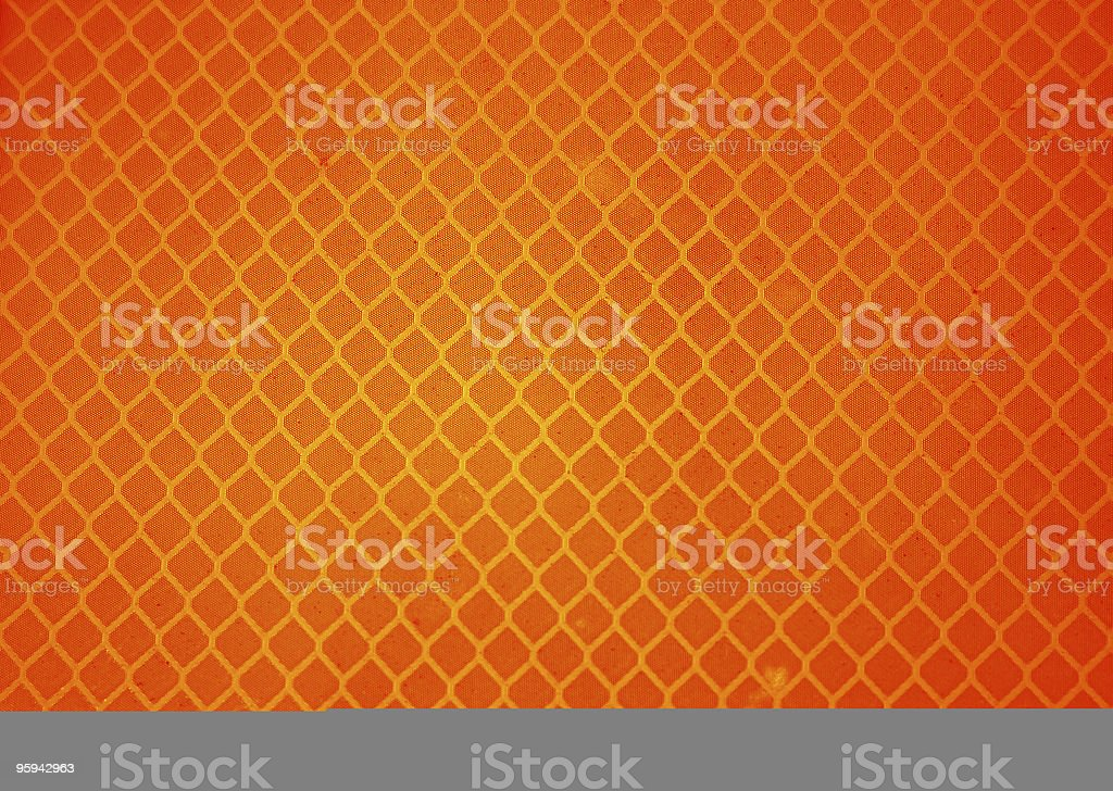 Bright Orange Traffic Sign Macro royalty-free stock photo
