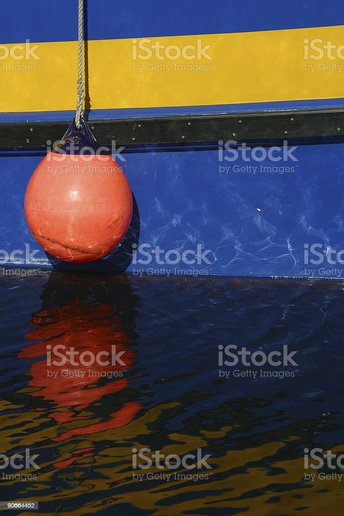 Bright orange/red fender. royalty-free stock photo