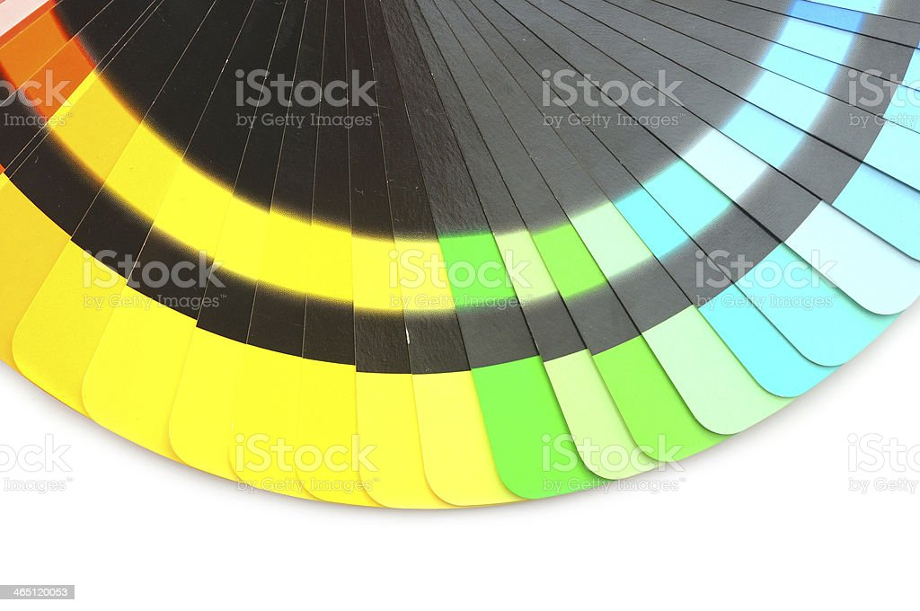 bright palette of colors isolated on white stock photo