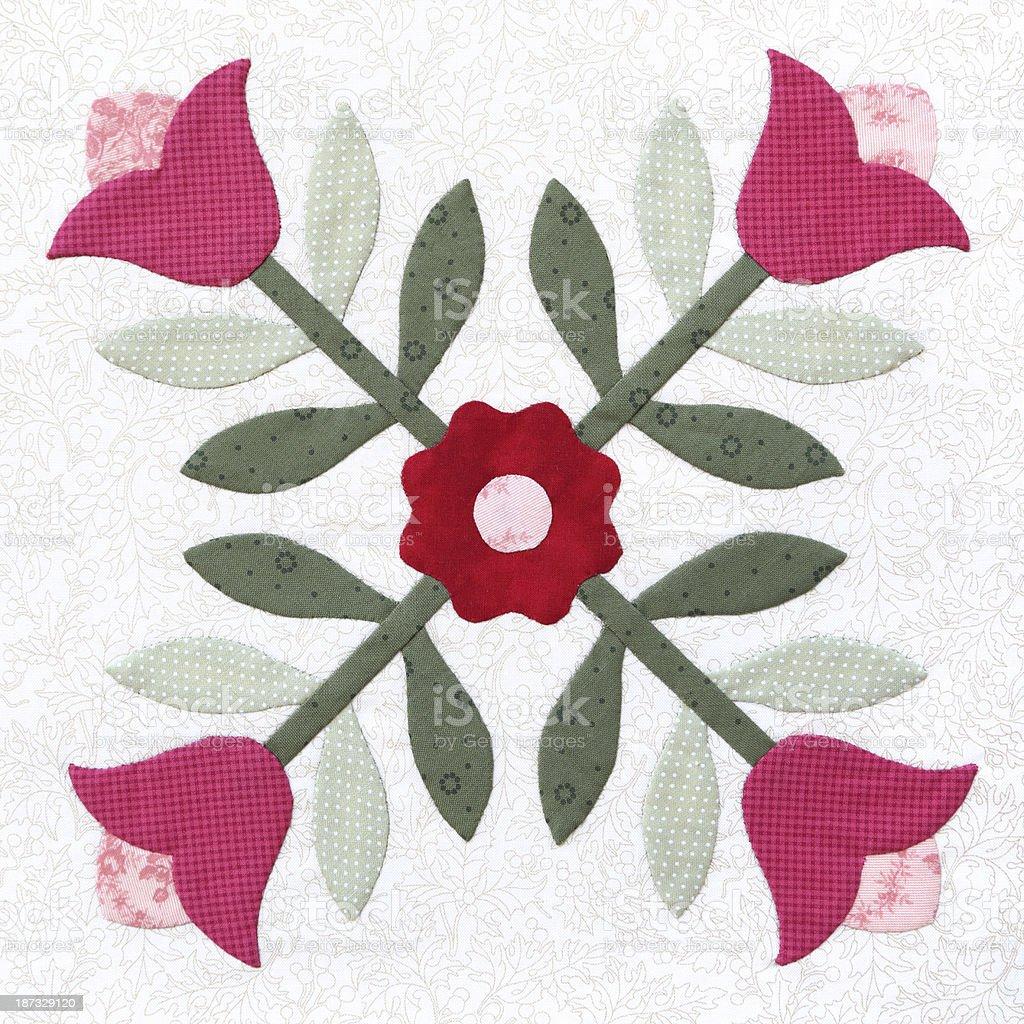 Bright patchwork quilt pattern design stock photo