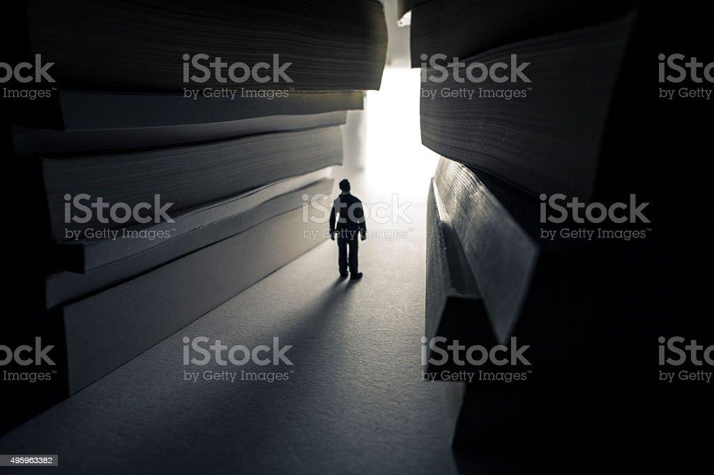 bright path of knowledge stock photo