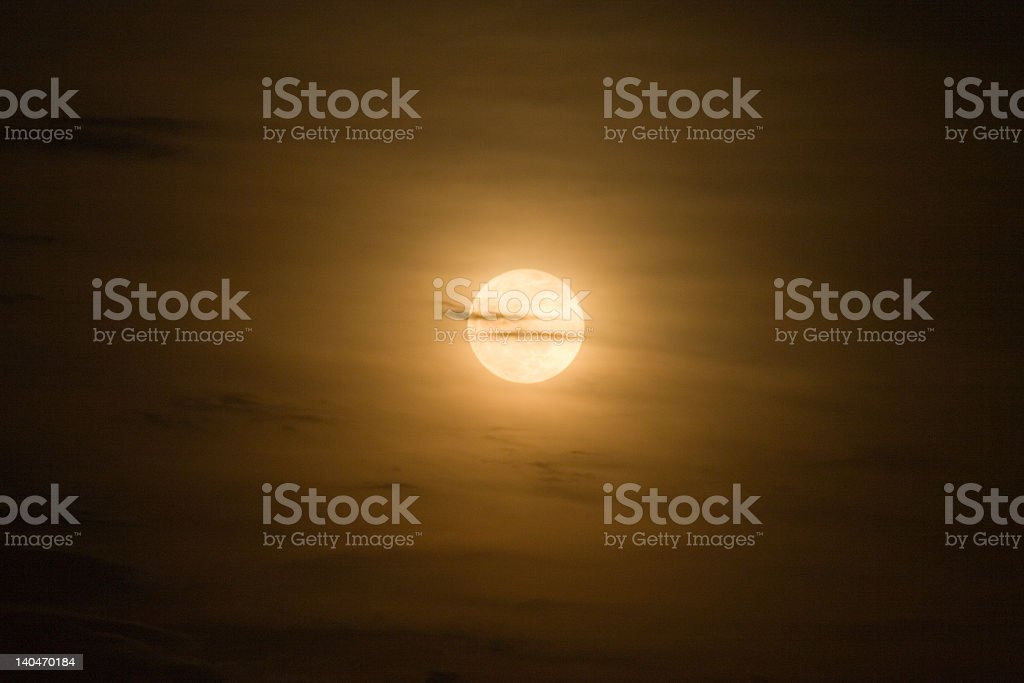 Bright photo of a full moon at night stock photo