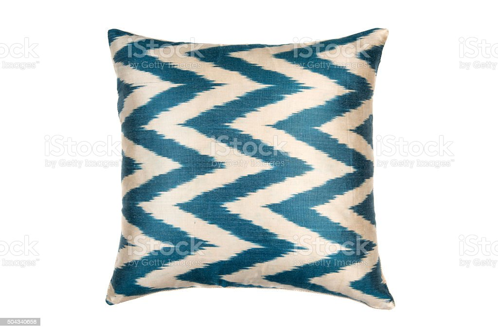 bright pillow isolated on white stock photo