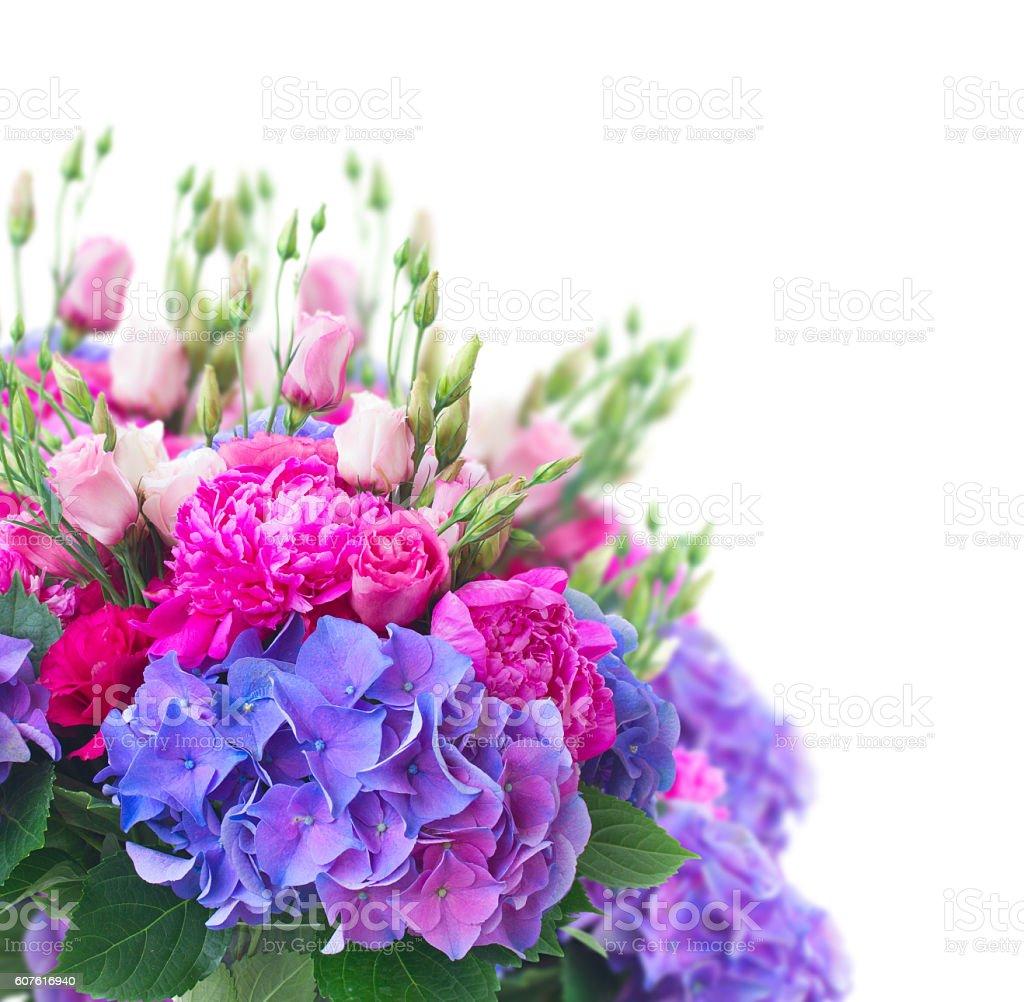 Bright pink and blue flowers stock photo 607616940 istock bright pink and blue flowers royalty free stock photo izmirmasajfo