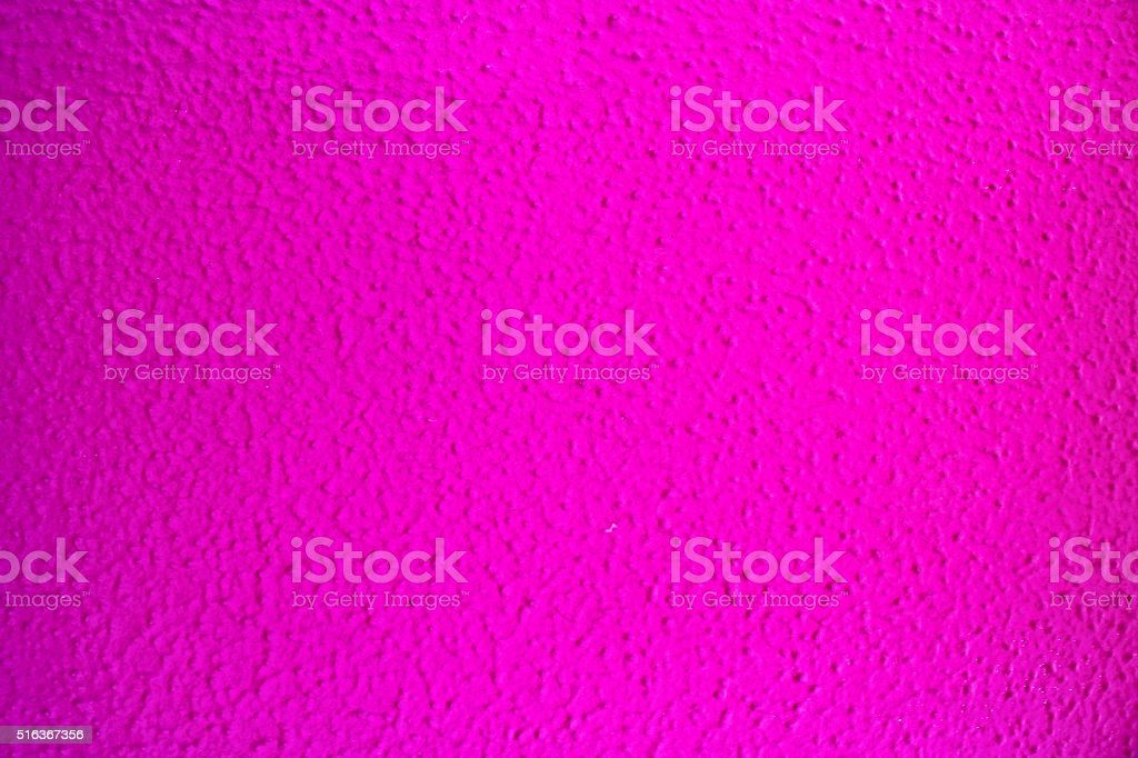 Bright Pink Painted Wall Close Up stock photo
