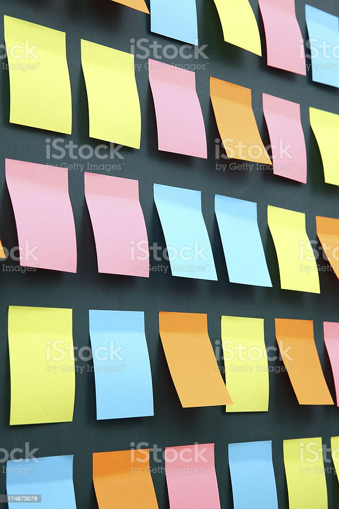 Bright Post-it Notes royalty-free stock photo