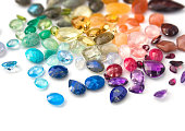 Bright real gemstones closeup picture.