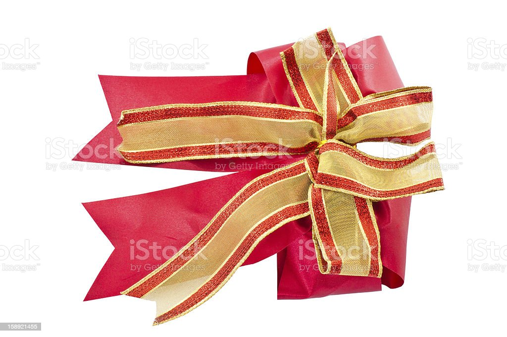 bright red bow stock photo